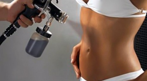 Spray tanning application